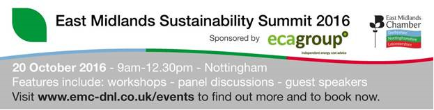 We are attending the East Midlands Sustainability Summit